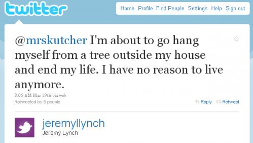 Голівудські зірки попередили спробу самогубства через Twitter