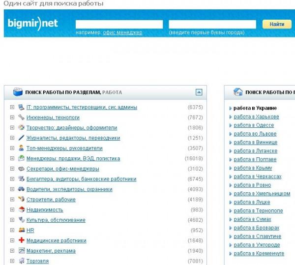 Bigmir.net запустив розділ Робота у співпраці з Jooble