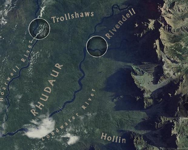 Google створив карту Середземя – світу хобітів, тролів, людей та ельфів