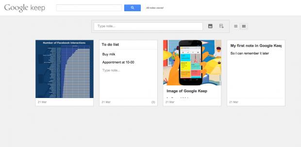 Google запустив Keep   конкурента Evernote