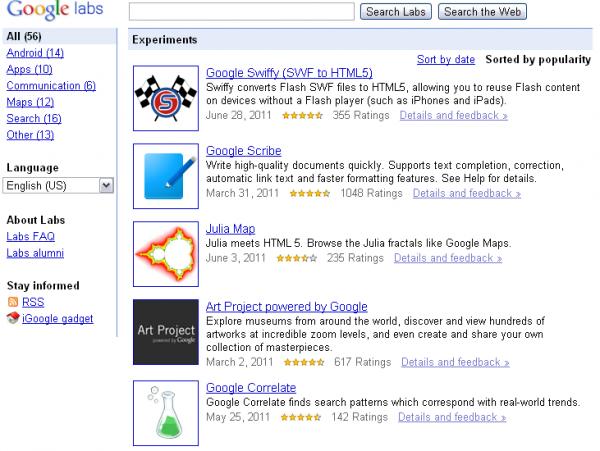 Google закриває Google Labs