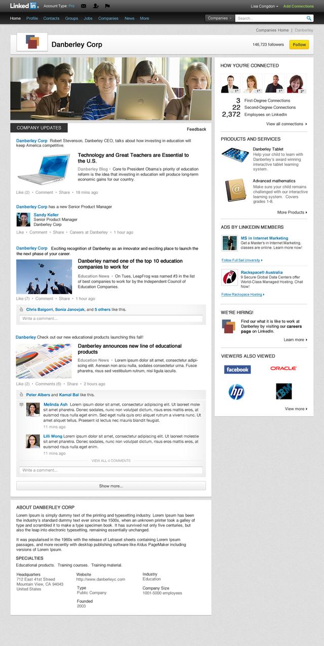 LinkedIn оновлює вигляд сторінок компаній