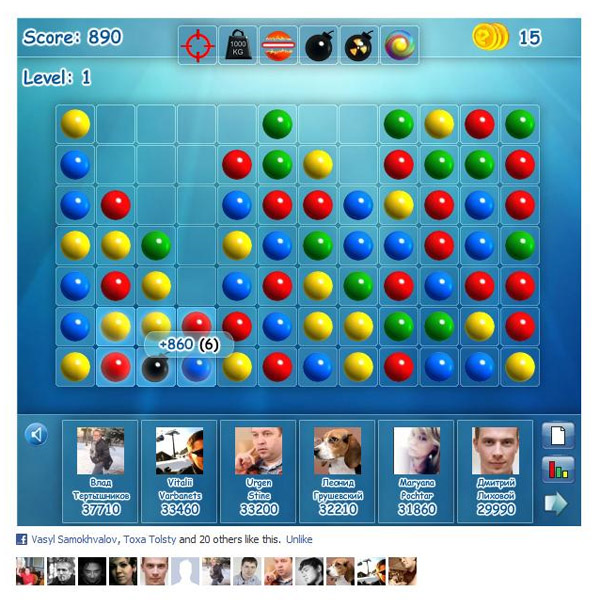 Одну з найпопулярніших українських казуальних ігор «Магнітні кульки» перенесли на Facebook