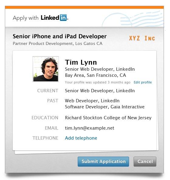 LinkedIn запустив кнопку для надсилання резюме