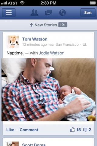 Facebook оновив додаток для iOS