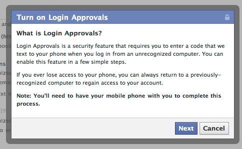 Facebook увімкнув SMS авторизацію
