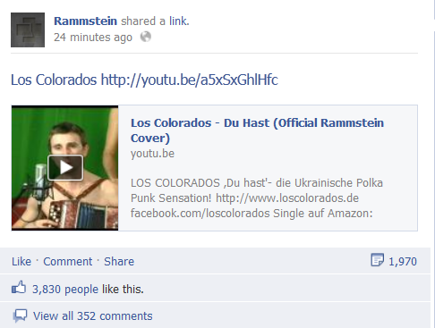 Після успіху з Кеті Пері Los Colorados взявся за Rammstein (оновлено)