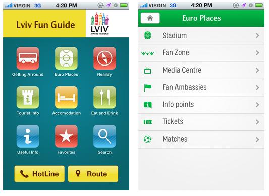 Львів розробив мобільні додатки для Євро 2012