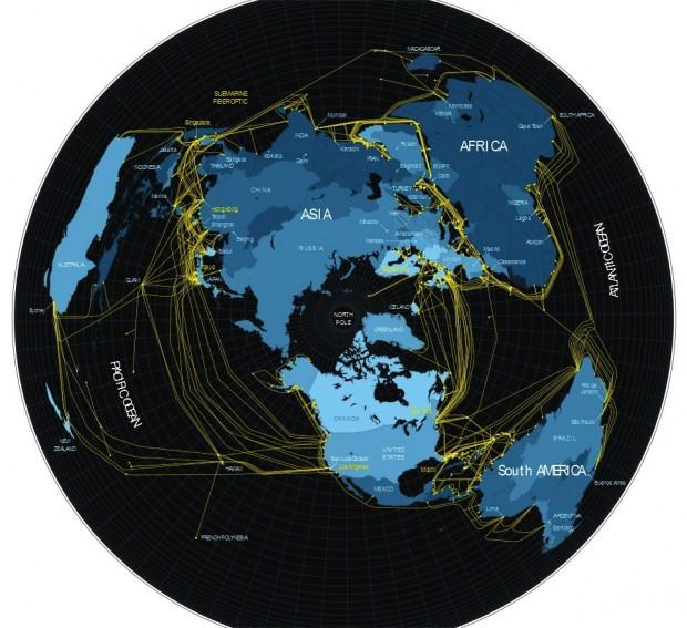 Світова мапа комунікаційної інфраструктури інтернету