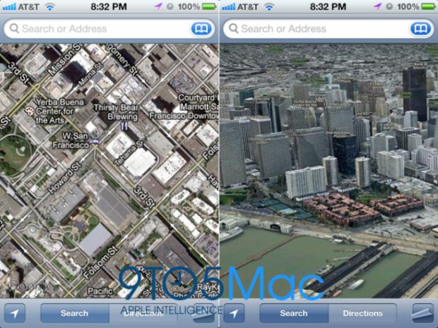 Apple в iOS 6 відмовиться від Google Maps і перейде на власні мапи