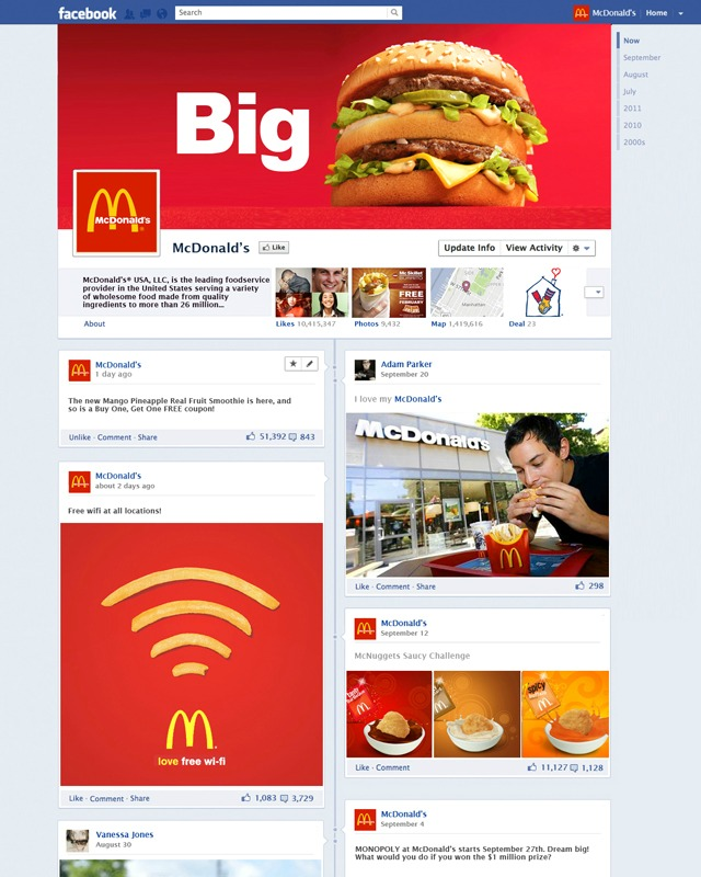 Як виглядатимуть сторінки компаній на Facebook у новому інтерфейсі?