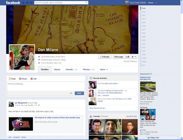 Facebook планує повернути таби в інтерфейс сторінки користувача