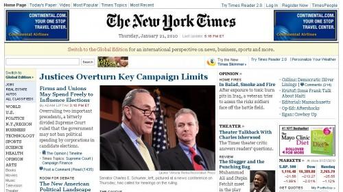 New York Times перейде на платну модель сайту