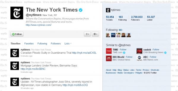 Твітер The New York Times популярніший, ніж друкована версія газети