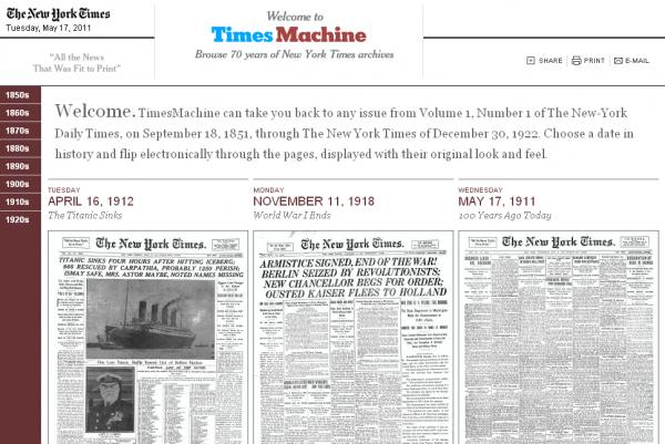 The New York Times опублікувала на сайті архів газет за 70 років