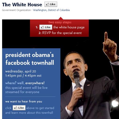 Обама збирає людей на мітинг через Facebook