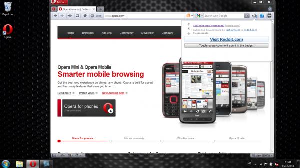Відбувся реліз браузера Opera 11
