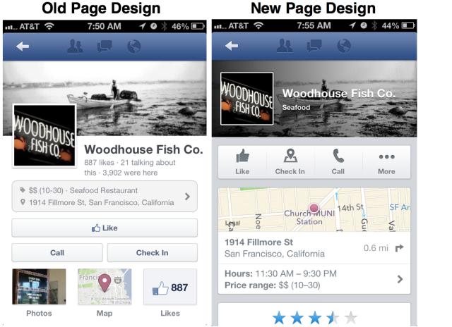 Facebook оновив мобільні сторінки брендів, десктопні на черзі