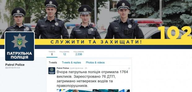 Патрульна поліція завела Facebook та Twitter екаунти