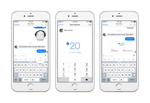 Facebook запустив сервіс грошових переказів через Messenger