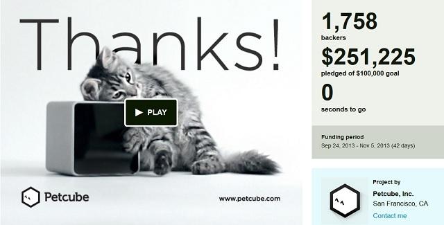 Український стартап Petcube зібрав чверть мільйона доларів на Кікстартері