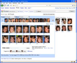 Користувачі Picasa тепер можуть розпізнавати обличчя
