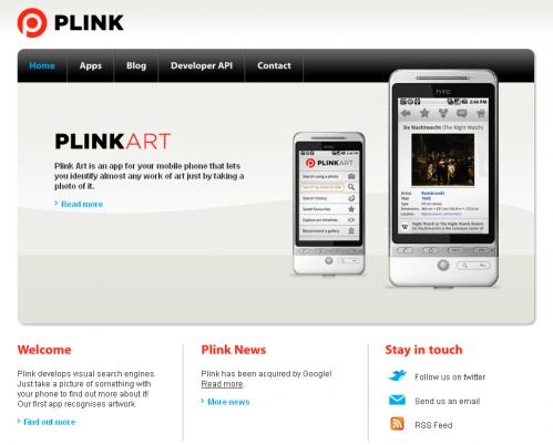 Google придбав пошуковий стартап Plink
