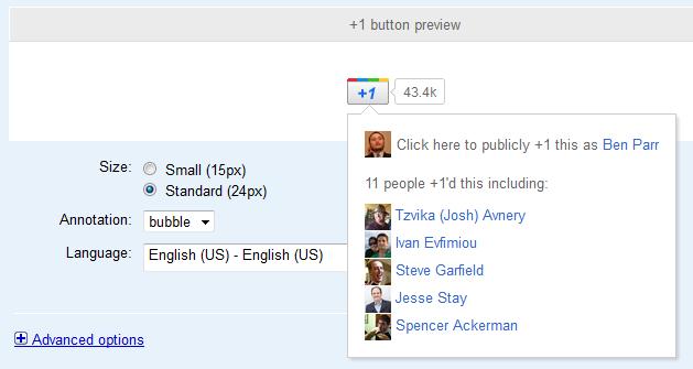 Google додав анотації друзів до кнопки +1