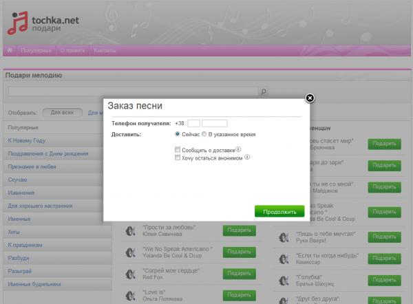 Tochka.net запустила сервіс листівок та віртуальних подарунків