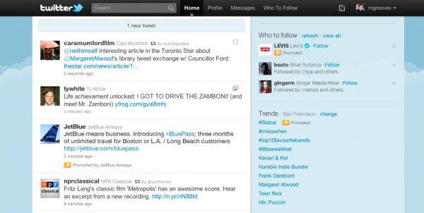 Рекламні твіти почали зявлятись у стрічках користувачів Твітера