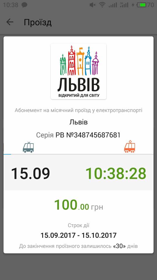 У Львові запустили мобільні проїзні для міського транспорту