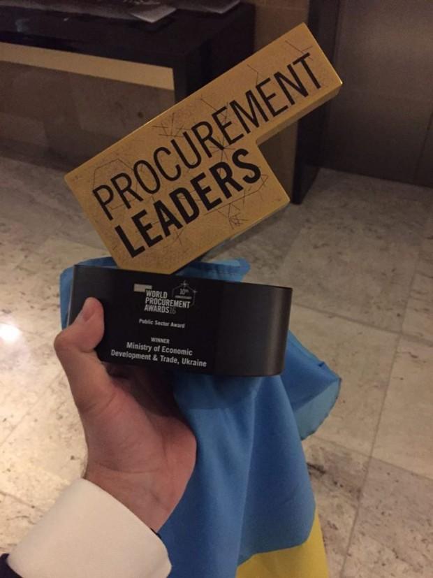 Українська система електронних закупівель ProZorro виграла престижну міжнародну премію