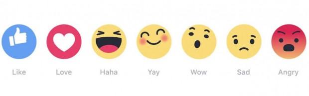Facebook запускає для всіх користувачів ще 6 додаткових емоцій на заміну кнопці Like