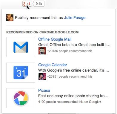 Кнопка Google +1 рекомендуватиме користувачам цікаві сторінки