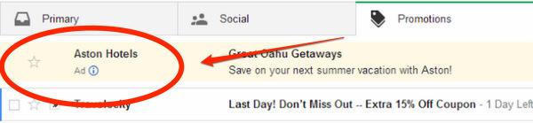 Google почав розміщувати рекламу в Gmail у вигляді листів