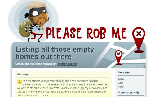 Pleaserobme.com допомагає злодіям знайти пусті домівки для крадіжок