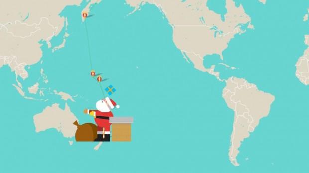 Google запустив сервіс, що дозволяє в режимі реального часу спостерігати за подорожжю Санта Клауса