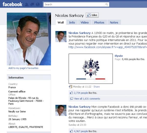 Хакери зламали сторінку президента Франції на Facebook