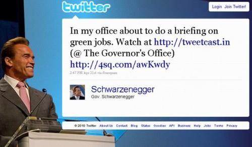 Арнольд Шварценеггер засвітився на Foursquare