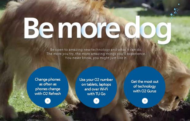 Компанія O2 закликає британців «бути більше собаками»