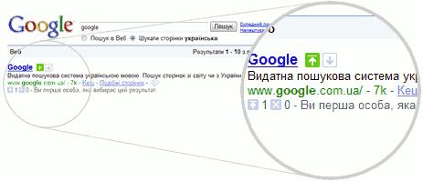 Google запустив SearchWiki для українських користувачів