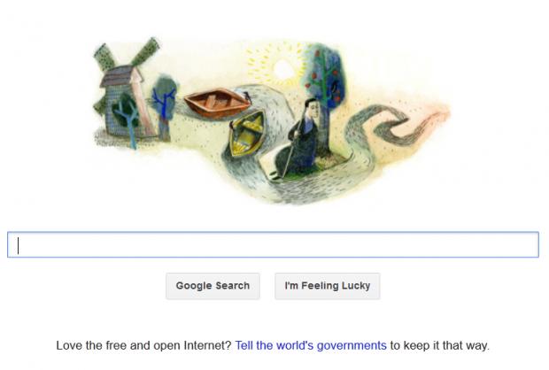Google присвятив свою головну сторінку в Україні Григорію Сковороді