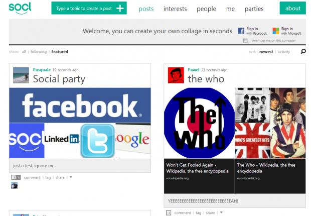 Соціальна мережа Socl від Microsoft доступна для всіх