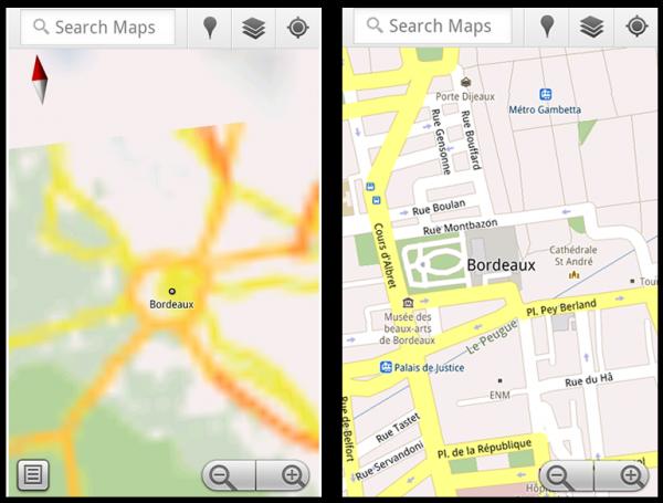 Мобільні Google Maps запрацювали в оффлайн режимі