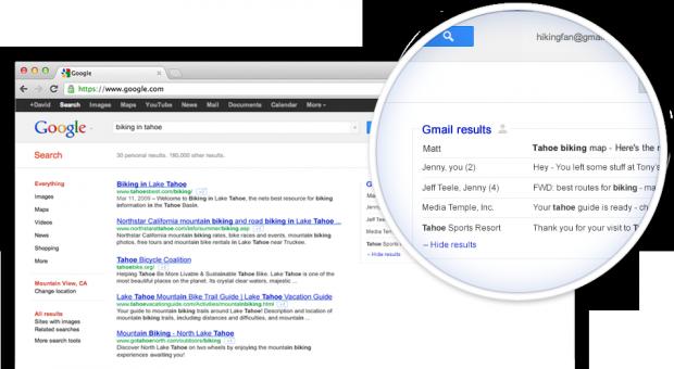 Google включить ваші листи з Gmail до пошукової видачі