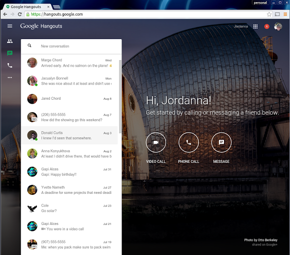 Google запустив веб версію месенджера Hangouts