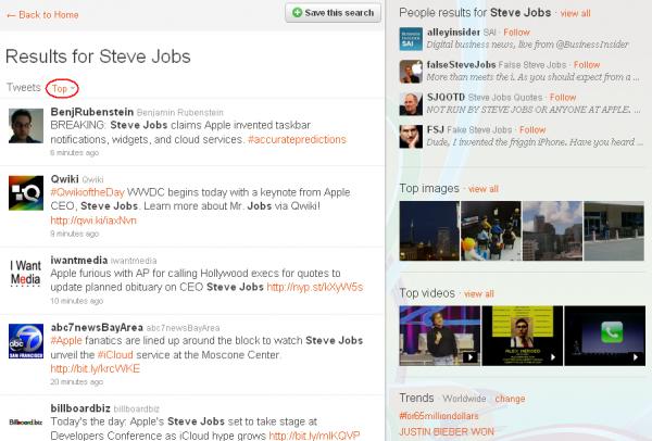 Twitter почав показувати в пошуку найпопулярніші твіти
