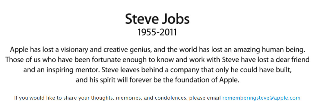 Засновник компанії Apple, Стів Джобс, помер