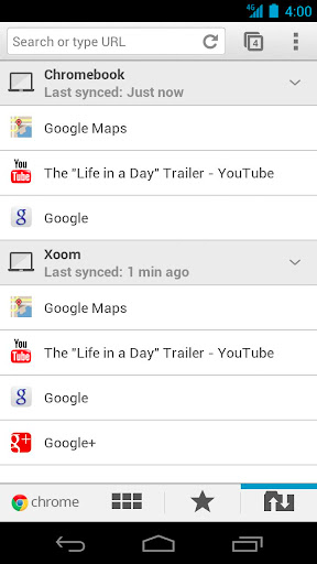 Google випустив браузер Chrome для Android