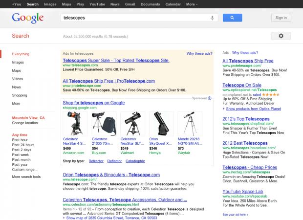 Google змусить магазини платити за розміщення в своєму каталозі